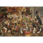 Puzzle  Puzzle-Michele-Wilson-A338-750 Brueghel Pieter l'ancien : Le combat de carnaval