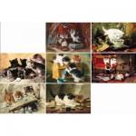Puzzle-Michele-Wilson-A396-750 Puzzle en Bois - Ronner Knipp : 7 Chats