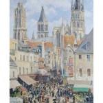 Puzzle-Michele-Wilson-A464-500 Puzzle en Bois - Pissarro : Rue de l'Epicerie à Rouen