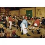 Puzzle-Michele-Wilson-A553-1000 Puzzle en Bois - Brueghel - Noce paysanne, 1567-1568