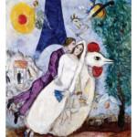 Puzzle  Puzzle-Michele-Wilson-W109-24 Chagall : Les mariées de la Tour Eiffel