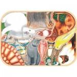 Puzzle-Michele-Wilson-W441-12 Puzzle en Bois - Animaux Familiers en Folie