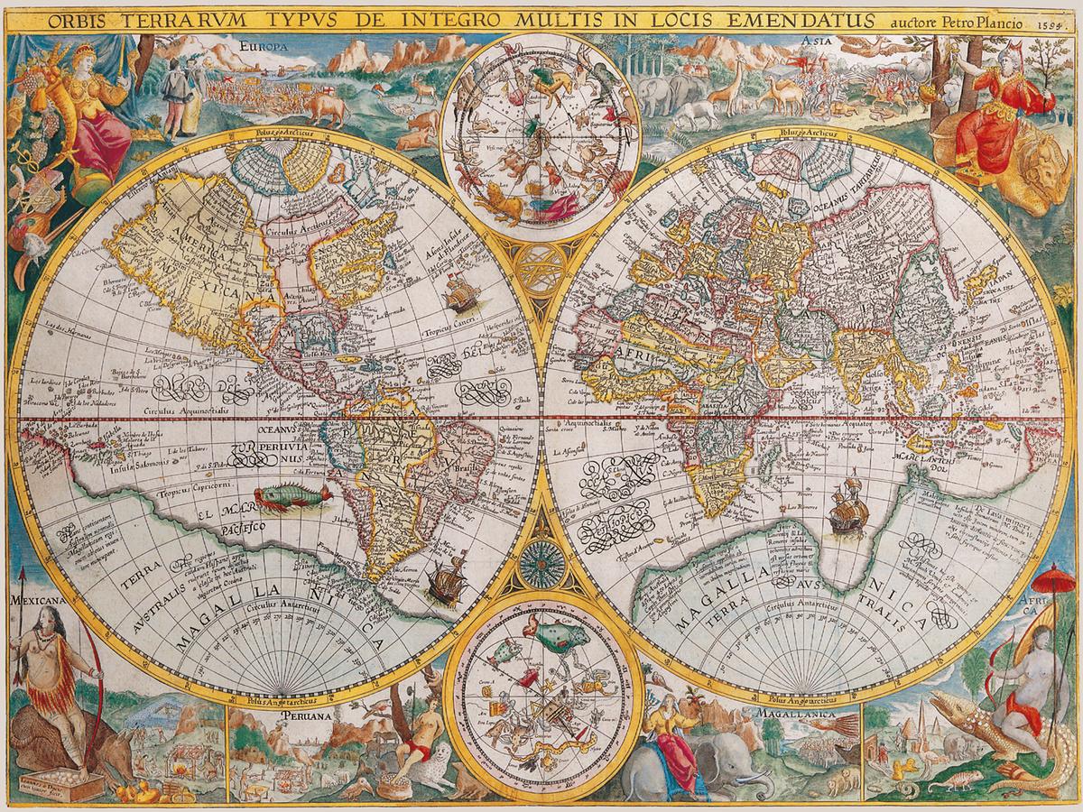 Carte Du Monde 1594 Puzzle 1500 Pi 232 Ces Ravensburger