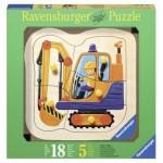 Puzzle  Ravensburger-03226 Encastrement en Bois - Pelleteuse