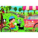 Ravensburger-05448 Puzzle Géant de Sol - Dogs Love Ice Cream
