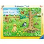 Ravensburger-06067 Puzzle Cadre - Les Animaux dans la Prairie