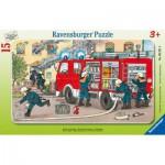 Puzzle  Ravensburger-06321 Ma voiture de pompier