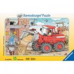 Ravensburger-06359 Puzzle cadre - Ma pelleteuse