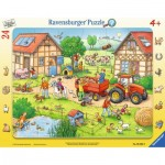 Ravensburger-06582 Puzzle Cadre - La Ferme