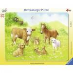 Ravensburger-06631 Puzzle Cadre - Doux Bébés Animaux
