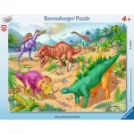 Ravensburger-06635 Puzzle Cadre - Dinosaures