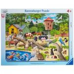 Ravensburger-06777 Puzzle Cadre - Dans le Zoo