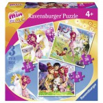 Ravensburger-07007 3 Puzzles - Mia et Moi