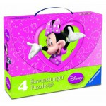Ravensburger-07283 4 Puzzles - Minnie