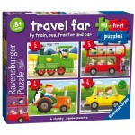 Ravensburger-07303 4 Puzzles - Travel Far
