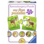 Ravensburger-07365 9 Puzzles - Les Animaux de la Forêt