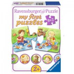 Ravensburger-07375 9 Puzzles - My First Puzzle - Petits Aventuriers