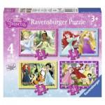 Ravensburger-07397 4 Puzzles - Disney Princess