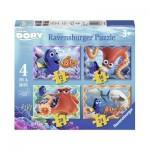 Ravensburger-07399 4 Puzzles - Dorie