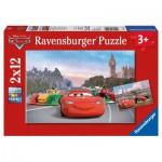 Ravensburger-07554 2 Puzzles - Cars à Paris et à Londres