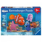 Ravensburger-07556 2 Puzzles - Némo