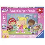 Ravensburger-07592 2 Puzzles - Chloé