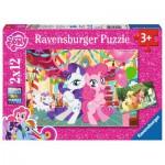 Ravensburger-07600 2 Puzzles - Mon Petit Poney