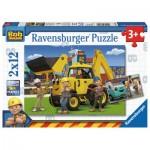 Ravensburger-07604 2 Puzzles - Bob le Bricoleur