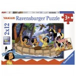 Puzzle  Ravensburger-07607 Eléphant, Lion & Co