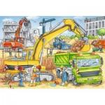 Ravensburger-07800 2 Puzzles - Construction