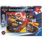 Ravensburger-08001 3 Puzzles - Cars