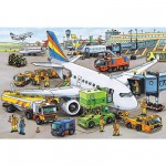 Puzzle  Ravensburger-08603 Activités de l'aéroport