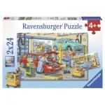 Ravensburger-08855 2 Puzzles - Le Garage et la Station Service