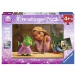 Ravensburger-08867 2 Puzzles - Raiponce