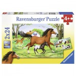 Ravensburger-08882 2 Puzzles - Le Monde du Cheval