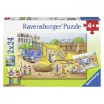 Ravensburger-08899 2 Puzzles - Sur le Chantier BTP