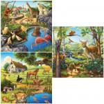 Puzzle  Ravensburger-09265 Les animaux du bois/du zoo/domestiques