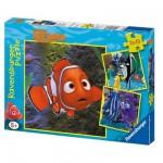 Ravensburger-09371 3 Puzzles - Némo : Dans l'aquarium