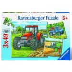 Puzzle  Ravensburger-09388 Engins agricoles