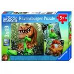 Ravensburger-09410 3 Puzzles - The Good Dinosaur