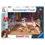 Ravensburger-09785 Puzzle Géant de Sol - Secret Life of Pets