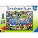 Puzzle  Ravensburger-10540 Animaux du Monde