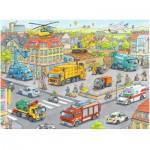 Puzzle  Ravensburger-10558 Véhicules de la Ville