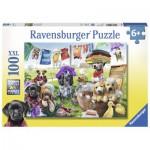 Puzzle  Ravensburger-10596 Pièces XXL - La Bain des Chiens