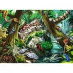 Puzzle  Ravensburger-10703 Pièces XXL - Creepy Crawlies back
