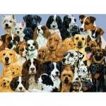Ravensburger-10745 Puzzle 100 pièces XXL - Pêle-mêle de chiens
