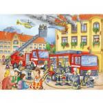 Puzzle  Ravensburger-10822 Nos amis les pompiers