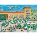 Puzzle  Ravensburger-10867 Au commissariat de police