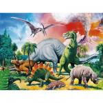 Puzzle  Ravensburger-10957 Entre dinosaures