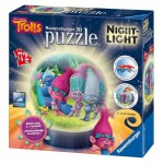 Ravensburger-11796 Puzzle 3D avec LED - Trolls